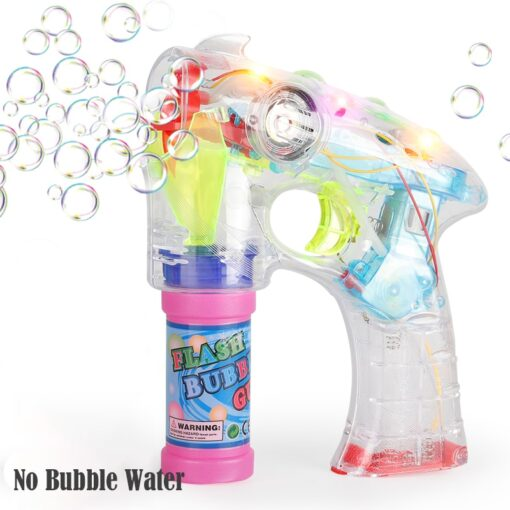 Electric Bubble Machine Wedding Birthday Party Blowing bubble music flash toys for children kids 3