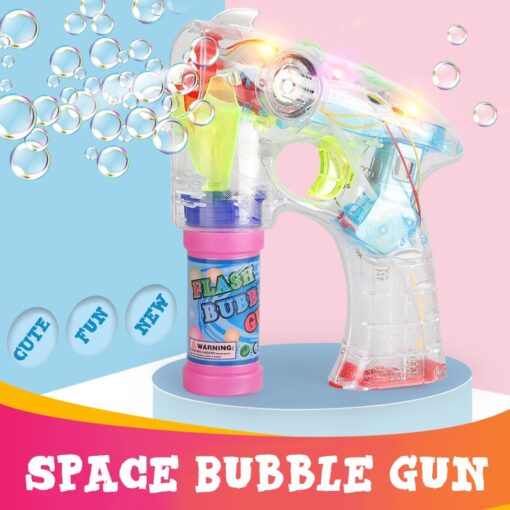 Electric Bubble Machine Wedding Birthday Party Blowing bubble music flash toys for children kids