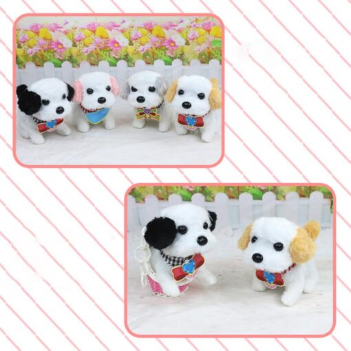Electric Plush Toy Wagtail Pet Dog Educational Toy Nod Shake Tail without battery Random Color 4