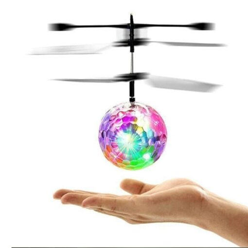 Electric RC Flying Ball Infrared Induction Aircraft LED Flash Light Kid s Flight Balls Remote Control 1