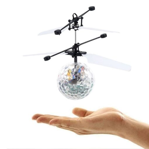 Electric RC Flying Ball Infrared Induction Aircraft LED Flash Light Kid s Flight Balls Remote Control 3