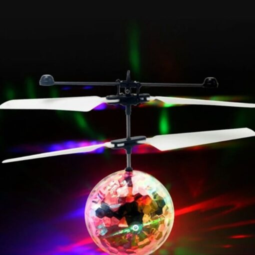 Electric RC Flying Ball Infrared Induction Aircraft LED Flash Light Kid s Flight Balls Remote Control 4