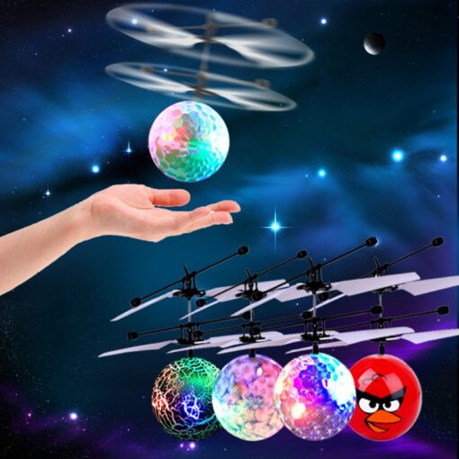 Electric RC Flying Ball Infrared Induction Aircraft LED Flash Light Kid s Flight Balls Remote Control
