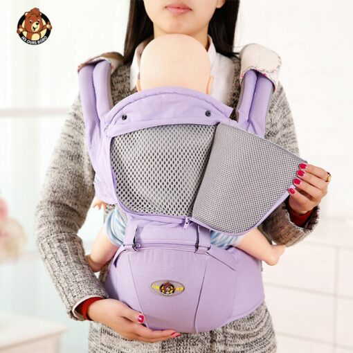 Ergonomic Baby Carrier Infant Kid Baby Hipseat Sling Front Facing Kangaroo Baby Wrap Carrier for Baby 5