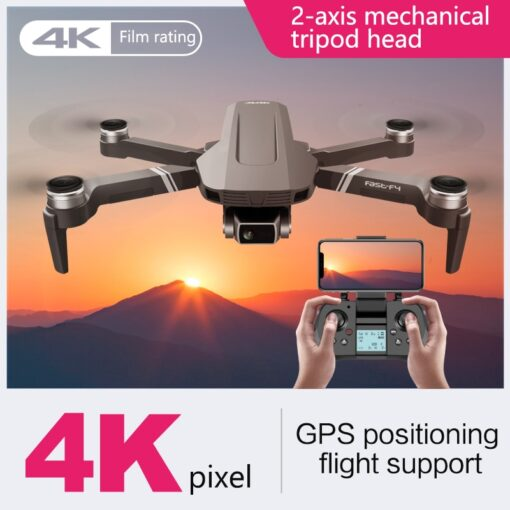F4 drone 4k 5G HD mechanical gimbal camera gps system supports TF card drones Stabilier distance 2
