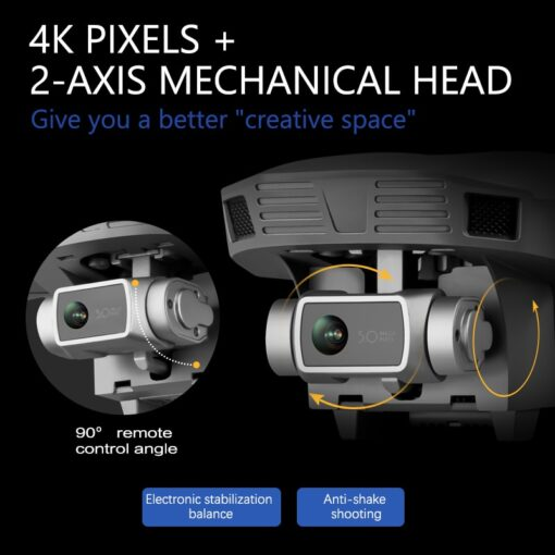 F4 drone 4k 5G HD mechanical gimbal camera gps system supports TF card drones Stabilier distance 3