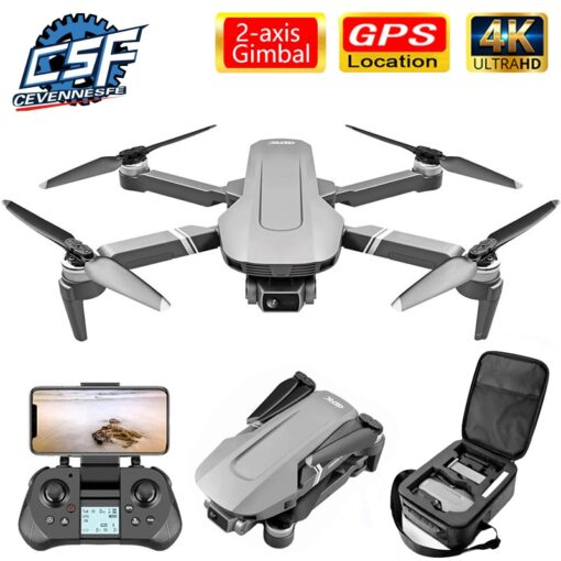 F4 drone 4k 5G HD mechanical gimbal camera gps system supports TF card drones Stabilier distance