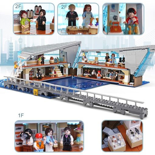 Famous Architecture The Singapore Boutique Clothing Jewelry Store With Led Kits Children Assemble Building Block Brick 1