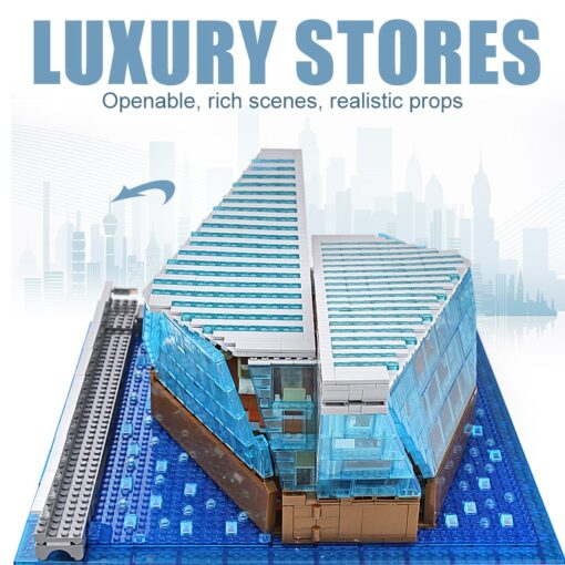 Famous Architecture The Singapore Boutique Clothing Jewelry Store With Led Kits Children Assemble Building Block Brick 2