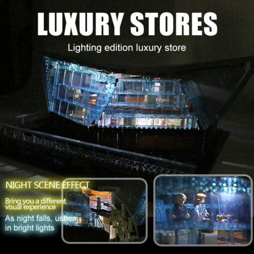 Famous Architecture The Singapore Boutique Clothing Jewelry Store With Led Kits Children Assemble Building Block Brick 4