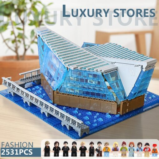 Famous Architecture The Singapore Boutique Clothing Jewelry Store With Led Kits Children Assemble Building Block Brick 5
