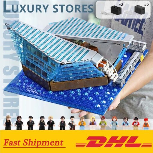 Famous Architecture The Singapore Boutique Clothing Jewelry Store With Led Kits Children Assemble Building Block Brick