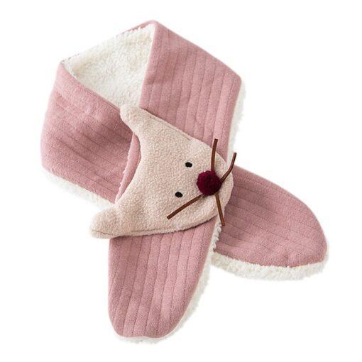 Fashion Baby Kids Scarves Winter Cartoon Thick Soft Bib Thickened O Ring Neck Warmer Children Winter 4