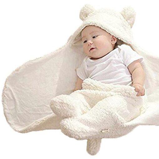 Fashion Baby blankets newborn Cute Cotton Receiving White Sleeping Blanket Boy Girl Wrap Swaddle kocyk dla 1