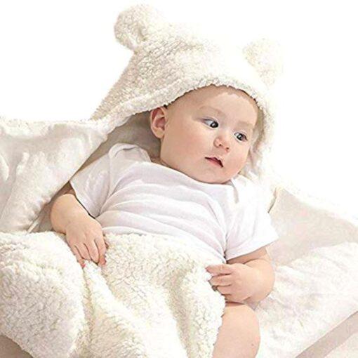 Fashion Baby blankets newborn Cute Cotton Receiving White Sleeping Blanket Boy Girl Wrap Swaddle kocyk dla 2