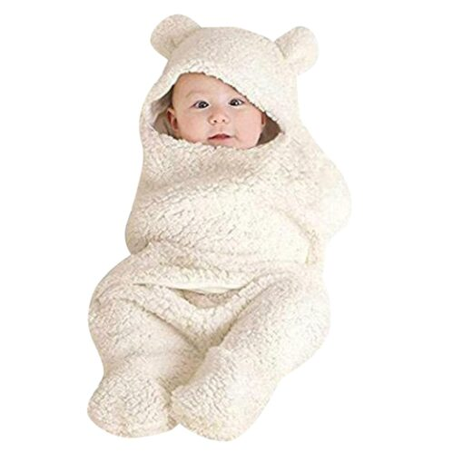 Fashion Baby blankets newborn Cute Cotton Receiving White Sleeping Blanket Boy Girl Wrap Swaddle kocyk dla 3