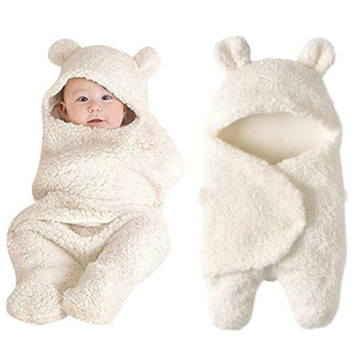 Fashion Baby blankets newborn Cute Cotton Receiving White Sleeping Blanket Boy Girl Wrap Swaddle kocyk dla