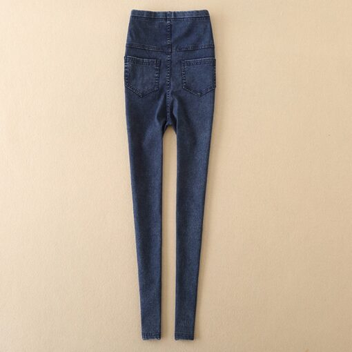 Fashion Casual Maternity Pregnancy Skinny Trousers Female Acetate Jeans Over The Pants Elastic High Quality Comfortable 2