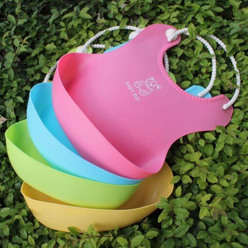 Fashion Infant Bibs Baby Soft Silicone Bib Waterproof Saliva Dripping Bibs Toddler Children Feeding Tools Boy 4
