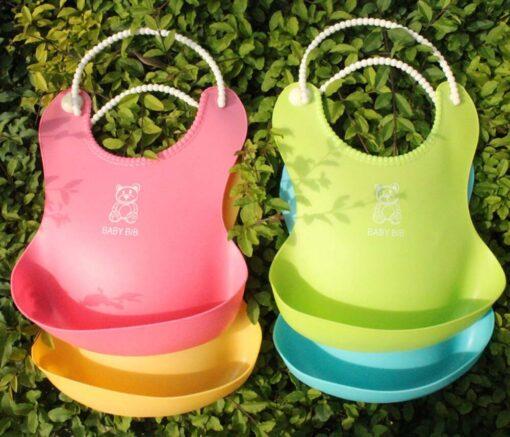 Fashion Infant Bibs Baby Soft Silicone Bib Waterproof Saliva Dripping Bibs Toddler Children Feeding Tools Boy 5