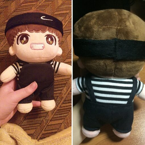 Fashion Korea Cartoon Plush Dolls Toys Plush Stuffed Doll Superstar Cute With Clothes Toy Gifts Collection 2