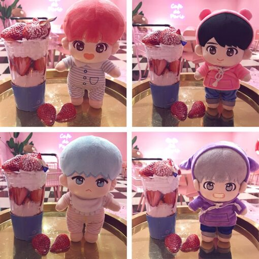 Fashion Korea Cartoon Plush Dolls Toys Plush Stuffed Doll Superstar Cute With Clothes Toy Gifts Collection