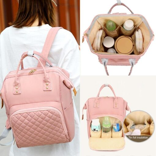 Fashion Mommy Bag Backpack High Quality Diaper Bag Waterproof Baby Nappy Bags Travel Baby Stroller Bag 1
