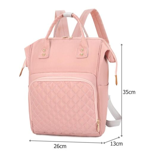 Fashion Mommy Bag Backpack High Quality Diaper Bag Waterproof Baby Nappy Bags Travel Baby Stroller Bag 5