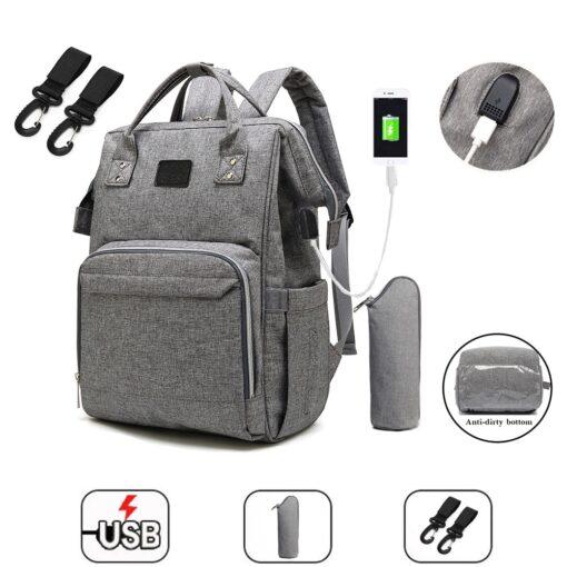 Fashion Mummy Maternity Diaper Bag Large Nursing Bag Travel Backpack Designer Stroller Baby Bag Baby Care
