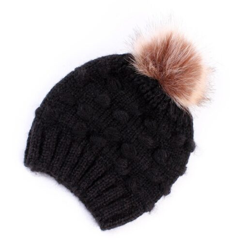 Fashion Newborn Girl Boy Baby Hats Cute Knitted Warm Protects Ear Bonnet Baby Infant Winter Knit 2