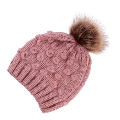 Fashion Newborn Girl Boy Baby Hats Cute Knitted Warm Protects Ear Bonnet Baby Infant Winter Knit 5