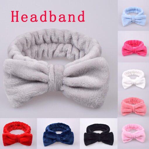 Fashion Velvet Hairband Solid Bow Knot Children Hair Ring Head Hoop Girls Headband Cotton Casual fashionable