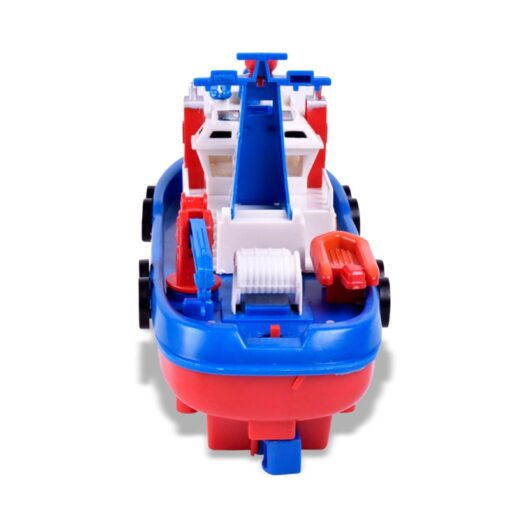Fast Speed Music Light Electric Marine Rescue Fire Fighting Boat Fire Fighting Ship Toys Non Remote 3