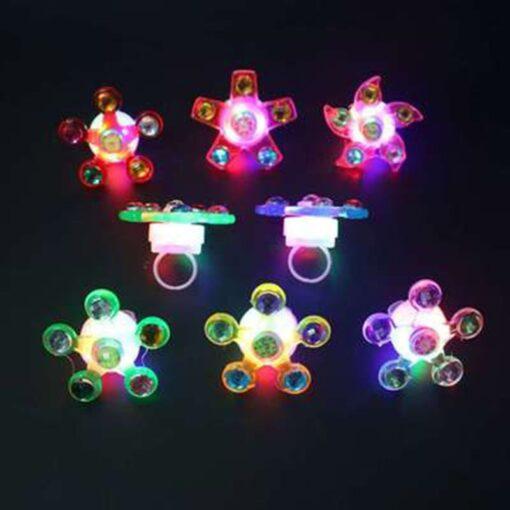 Fidget Spinner Light Up Ring Stress Relief Fidget Toys Supplies Party Favors 5