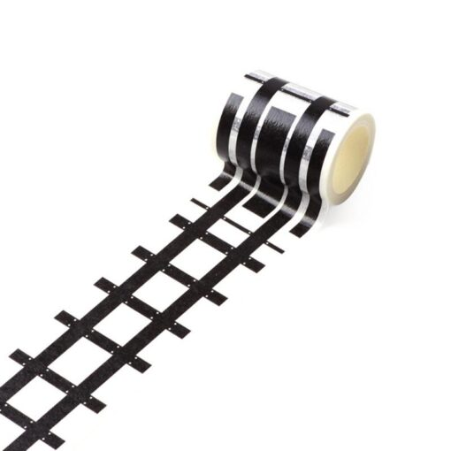 Floor Sticker Creative DIY Highway Railway Paper Tape Removable Track Road Kids Traffic Car Toy Adhesive 2