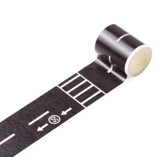 Floor Sticker Creative DIY Highway Railway Paper Tape Removable Track Road Kids Traffic Car Toy Adhesive 3