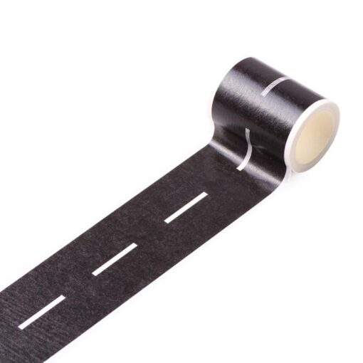 Floor Sticker Creative DIY Highway Railway Paper Tape Removable Track Road Kids Traffic Car Toy Adhesive 4