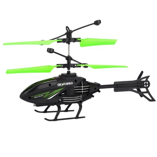 Flying Mini RC Infraed Induction Helicopter Aircraft Flashing Light Toys Gyro Helicopter RC Drone Christmas Gift 1