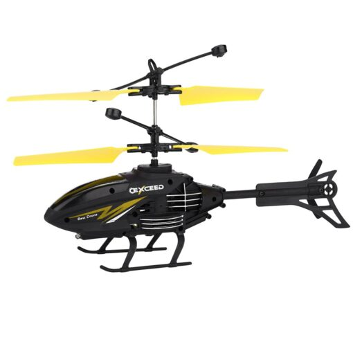 Flying Mini RC Infraed Induction Helicopter Aircraft Flashing Light Toys Gyro Helicopter RC Drone Christmas Gift 2