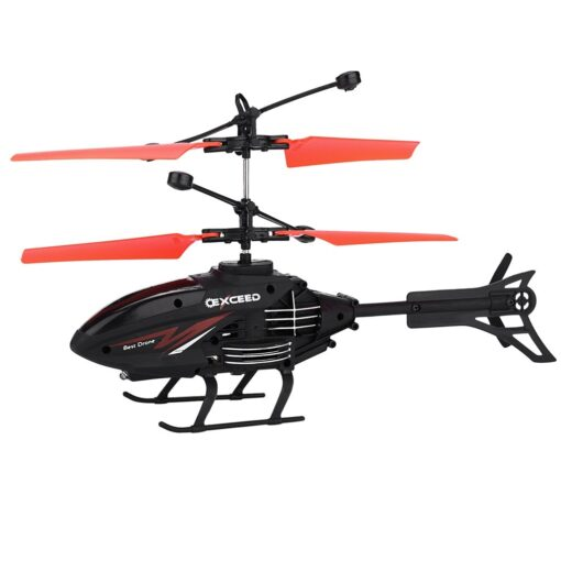 Flying Mini RC Infraed Induction Helicopter Aircraft Flashing Light Toys Gyro Helicopter RC Drone Christmas Gift 5