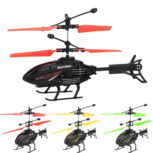 Flying Mini RC Infraed Induction Helicopter Aircraft Flashing Light Toys Gyro Helicopter RC Drone Christmas Gift