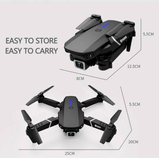 Fold FPV Drone Quadcopter with Camera Dron Professional 4K Drone Height Hold Drone 4K Dual Camera 2