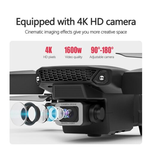 Fold FPV Drone Quadcopter with Camera Dron Professional 4K Drone Height Hold Drone 4K Dual Camera 4