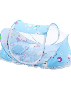 Foldable Baby Bedding Set with Mosquito Net Boy Girl Portable Newborn Crib Sleepping Bed Pillow Cot 1