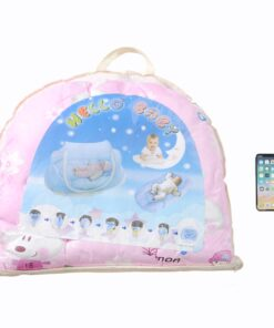 Foldable Baby Bedding Set with Mosquito Net Boy Girl Portable Newborn Crib Sleepping Bed Pillow Cot 2