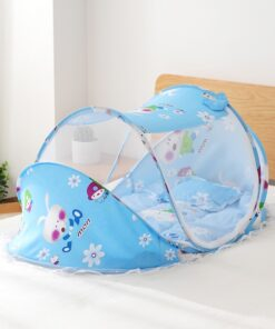 Foldable Baby Bedding Set with Mosquito Net Boy Girl Portable Newborn Crib Sleepping Bed Pillow Cot