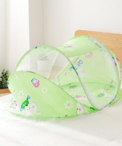 Foldable Baby Bedding Set with Mosquito Net Boy Girl Portable Newborn Crib Sleepping Bed Pillow Cot 4