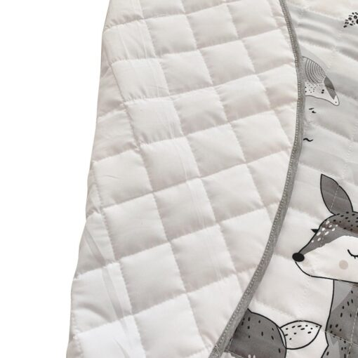 Foldable Children s Crawling Blanket Comfortable Soft Cotton Game Cushioned Mat 95cm Diameter For Bedroom Baby 3
