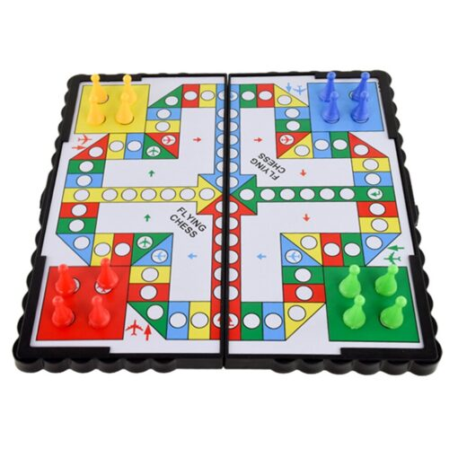 Foldable Portable Aeroplane Chess Games Magnetic Battle Ludo Flying Chess Toy Game Educational Toys 1