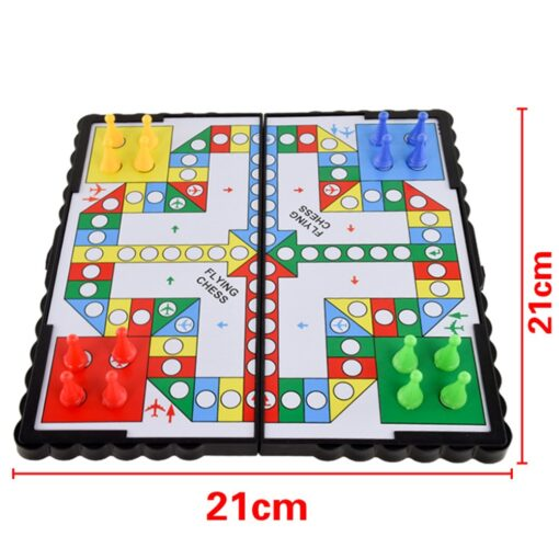 Foldable Portable Aeroplane Chess Games Magnetic Battle Ludo Flying Chess Toy Game Educational Toys 3